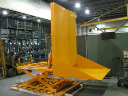 Custom Scissor Lift and Tilt Table raised