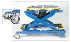 scissor lift table with portable base option